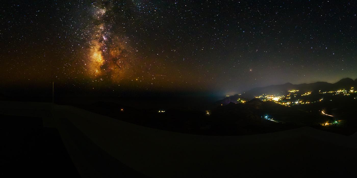 Sternenhimmel über der Bucht von Plakias